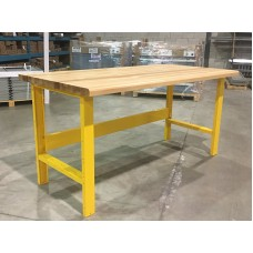 Laminated wood top table