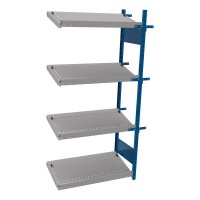 Open shelving with 4 sloped shelves (FIFO) (Middle side-by-side unit)