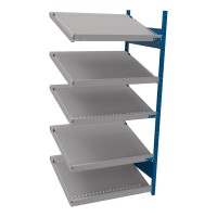 Open shelving with 5 sloped shelves (FIFO) (End side-by-side unit)