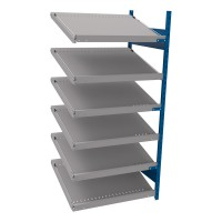 Open shelving with 6 sloped shelves (FIFO) (End side-by-side unit)
