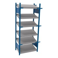 Open shelving with 6 sloped shelves (FIFO) (Starter side-by-side unit)