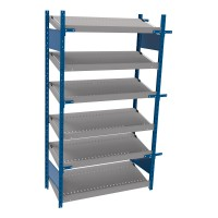 Open shelving with 6 sloped shelves (FIFO) (Starter side-by-side unit)