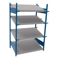 Open shelving with 4 sloped shelves (FIFO) (Starter side-by-side unit)