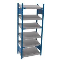 Open shelving with 6 sloped shelves (FIFO) (Standalone unit)