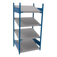 Open shelving with 4 sloped shelves (FIFO) (Standalone unit)