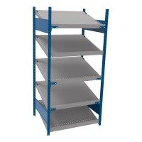 Open shelving with 5 sloped shelves (FIFO) (Standalone unit)
