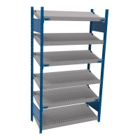 Open shelving with 6 sloped shelves (FIFO) (Standalone unit)