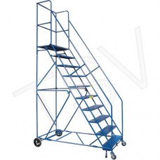Rolling step ladders