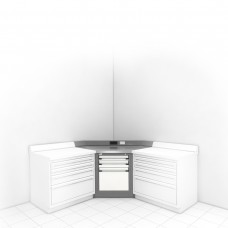 Corner Unit with Stainless Steel Top