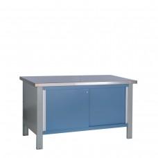Table de travail avec dessus d'acier inoxydable