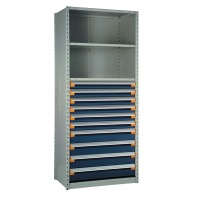 """Shelving with Drawers, 48""""H Drawer Bank"""
