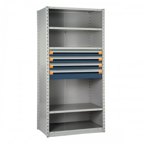 Shelving with Drawers, 18