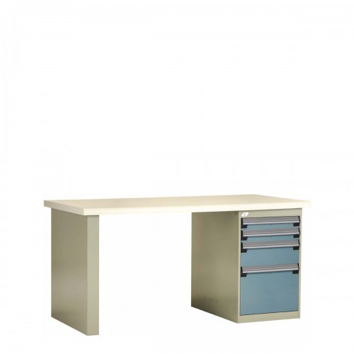 Workbench with Plastic Laminated Top