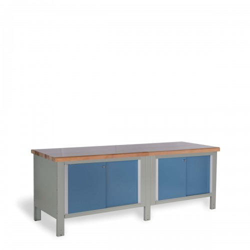 Double Workbench with Laminated Wood Top