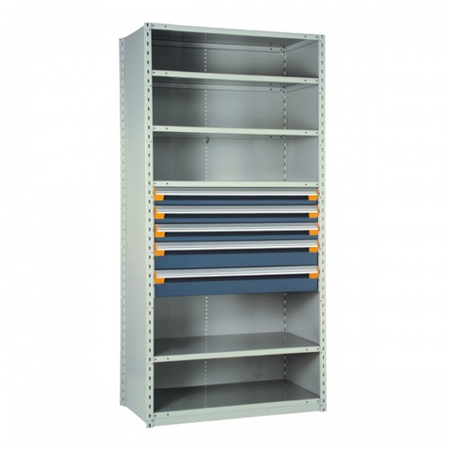 Shelving with Drawers, 24