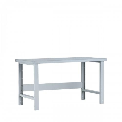 Table de travail avec dessus d'acier peint