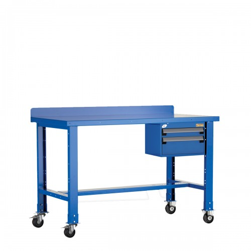 Mobile Workbench with Painted Steel Top
