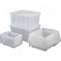 Flipak® Clear Polypropylene Plastic (PP) Distribution Containers