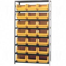 "Shelving Units - Series QMS532, Steel, Boltless, 500 lbs. Capacity, 42"" W x 76"" H x 18"" D"