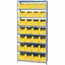 "Storage Shelf Units - QUS239 Series, Steel, Boltless, 630 lbs. Capacity, 36"" W x 76"" H x 12"" D"
