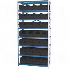 "Storage Shelf Units - QUS240 SERIES, Steel, Boltless, 630 lbs. Capacity, 36"" W x 76"" H x 12"" D"