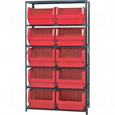 "Shelving Units - Series QMS543, Steel, Boltless, 500 lbs. Capacity, 42"" W x 18"" D"