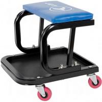 Mechanic's Roller Seat, Vinyl, Blue, 300 lbs. Capacity