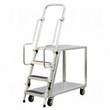 Aluminum Stock Picking Ladder Cart