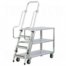 Aluminum Stock Picking Ladder Cart