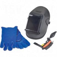 Deluxe Welding Helmet, Hammer, & Gloves Pack