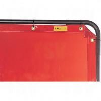 Welding Screen and Frame, Orange, 8' x 6'
