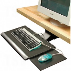 Heavy-Duty Articulating Keyboard Trays With Mouse Platform
