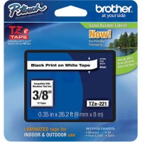 "Tze Tape Cartridges, 9 mm x 314.96"" or 8 m, Black on White"