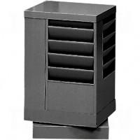 """Literature Storage Racks, Rotating, 20 Slots, Steel, 14-1/8"""" W x 14-1/8"""" D x 21-1/4"""" H"""