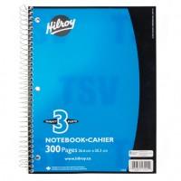 3 Subject Spiral Notebook