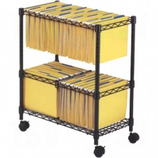 File Carts- 2-tier Rolling File Cart