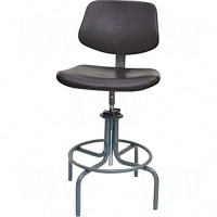 600 Series Rectangular Stool with Back