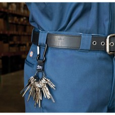 """Split Ring Key Holder, Zinc Alloy Metal, 4-1/2"""" Cable, Carabiner Attachment"""
