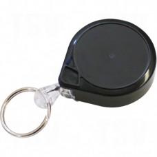 "Retractable Mini-Bak® Key Rings, Plastic, 36"" Cable, Belt Clip Attachment"