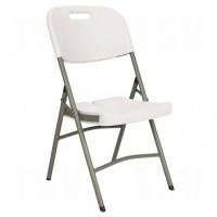 Folding Chairs, Polyethylene, White, 350 lbs. Weight Capacity