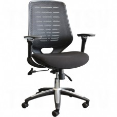 Activ® A-45 High-Back Syncro-Tilter Office Chairs, Black, 250 lbs. Capacity Each