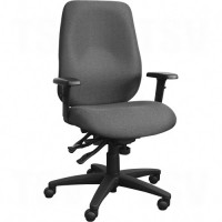 Cierra™ Ergonomic Chairs, Fabric, Grey, 250 lbs. Capacity Each