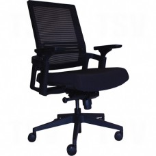 Activ® A-37 Office Chairs, Mesh, Black, 250 lbs. Capacity Each