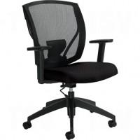 Task Chairs, Vinyl, Black, 300 lbs. Capacity Each