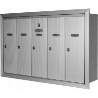 Single Deck Recessed Mailboxes