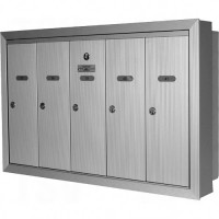 Single Deck Semi-Recessed Mailboxes