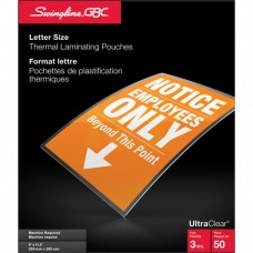 Swingline™ GBC® UltraClear™ Laminating Letter Pouches