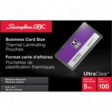 Swingline™ GBC® UltraClear™ Laminating Business Card Pouches