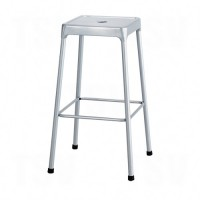 """Bistro Stool, Stationary, Fixed, 29"""", Steel Seat, Grey Each"""