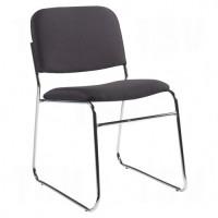 """Key® Armless Chair, Fabric, 30"""" High, 200 lbs. Capacity, Black"""